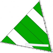 Sunfish Sail, Green and White, 10013