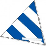 Sunfish Sail, Blue and White, 10008