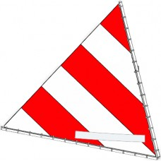 Sunfish Sail, Red and White, 10012